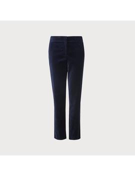 Roxane Blue Velvet Pants by L.K.Bennett
