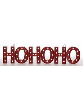Canvas Lit Ho Ho Ho Marquee Sign, Assorted, 35.7 In by Canadian Tire