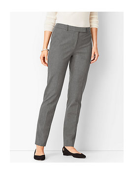Bi Stretch High Waist Straight Leg Pant   Melange by Talbots