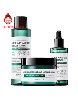 [Some By Mi] Aha Bha Pha 30 Days Miracle Toner + Serum + Cream by Style Korean