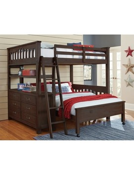 Ne Kids Highlands Full Over Full Bunk Bed In Espresso Keep In Touch by Homes Quare