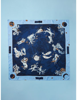 Zodiac Silk Scarf by Dvf