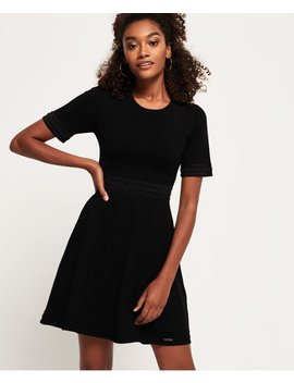 Riley Fit &Amp; Flare Knitted Dress by Superdry
