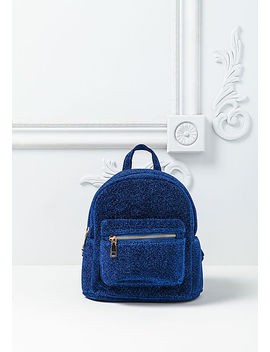 Cobalt Blue Shimmer Mini Backpack by Love Culture