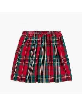 Girls' Sparkle Plaid Skirt by J.Crew
