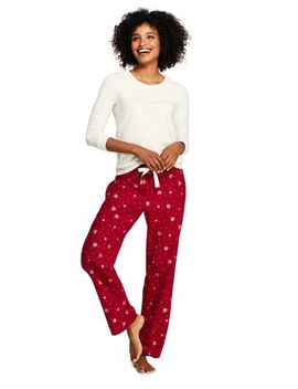 Women's Knit Flannel Pajama Set by Lands' End