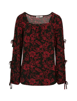 Tied Sleeve Cold Shoulder Top by Ricki's