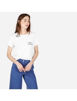 The 100% Human Woman Box Cut Tee In Small Print by Everlane