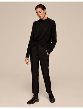 Grosgrain Stripe Slim Crop Trouser by Me+Em