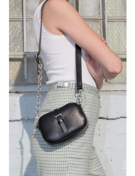 Black And Silver Chain Mini Purse by Brandy Melville
