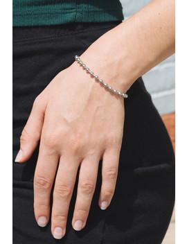 Silver Beaded Bracelet by Brandy Melville