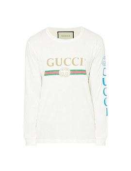 Printed Long Sleeve T Shirt by Gucci