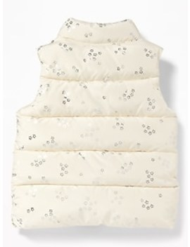 Frost Free Printed Puffer Vest For Toddler Girls by Old Navy