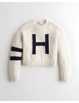 Boyfriend Logo Sweater by Hollister