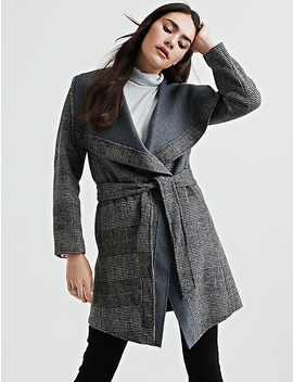 Plaid Double Face Wrap Jacket by Lucky Brand