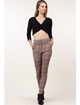 Glen Plaid Dressy Pants by Papaya