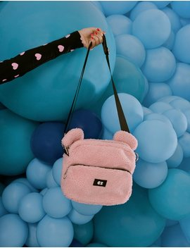 Lazy Oaf Pink Teddy Bear Bag by Lazy Oaf