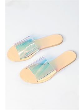 Clear Slide Sandals by Papaya