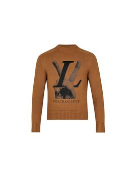 Hand Lv Embroidery Vicuna Blend Crewneck by Louis Vuitton