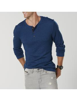 Structure Men's Slim Fit Henley Shirt   Marled by Sears