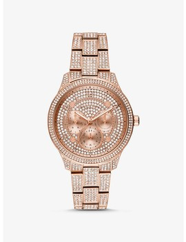 Montre Runway De Ton Or Rose à Pavé by Michael Kors