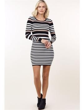 Striped Bodycon Mini Dress by Papaya
