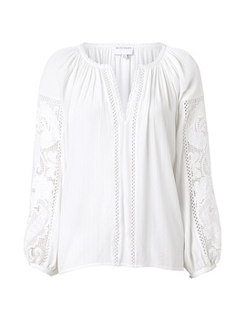 Lace Peasant Blouse by Witchery