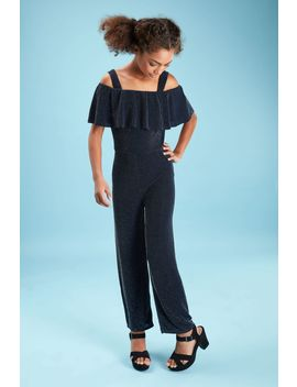 Girls Glitter Frill Jumpsuit by Select
