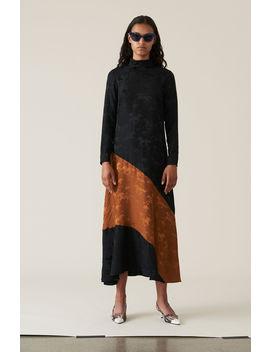 Silk Jacquard Maxi Dress by Ganni