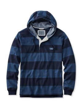 lakewashed-rugby,-traditional-fit-long-sleeve-hoodie-stripe by llbean