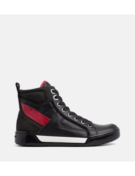 Leather High Top Trainers by Calvin Klein Jeans