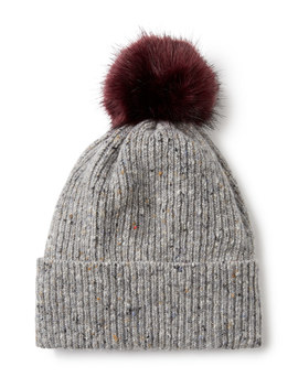 Donegal Faux Fur Pom Hat by Jigsaw