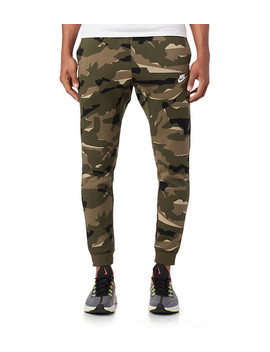 Club Brushed Back Flc Camo Jogger by Nike