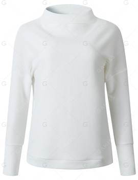 Womens Cowl Neck Ribbed Long Sleeve Knit Pullover Sweater by Gamiss