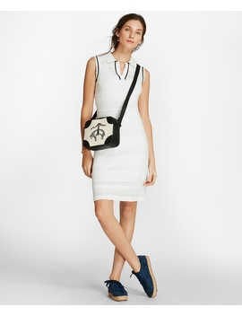 Pointelle Knit Polo Dress by Brooks Brothers