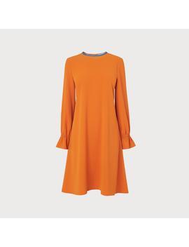 Darlie Orange Frill Dress by L.K.Bennett