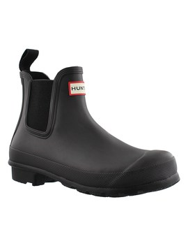 Women's Original Chelsea One Tab Black Boots by Hunter