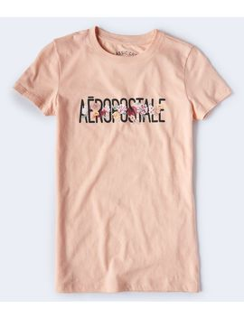 Floral Aeropostale Logo Graphic Tee by Aeropostale