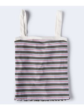 Seriously Soft Striped Square Neck Tank by Aeropostale