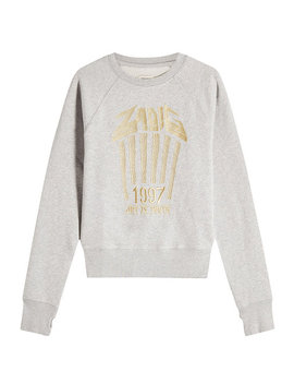 Embroidered Cotton Sweatshirt by Zadig &Amp; Voltaire