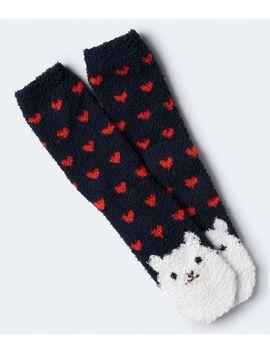 Llama Fuzzy Crew Socks by Aeropostale
