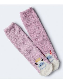 Angel & Devil Yeti Fuzzy Crew Socks by Aeropostale