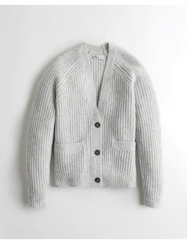 Oversized Button Front Cardigan by Hollister