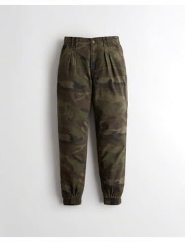 Ultra High Rise Pleated Twill Joggers by Hollister