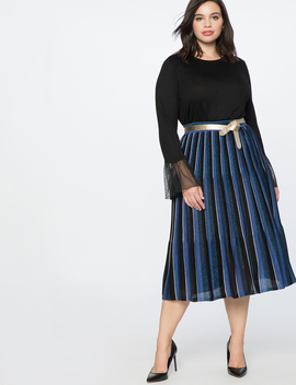 Pleated Sweater Skirt by Eloquii