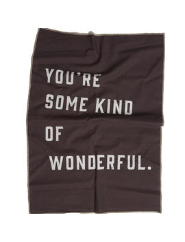 'some Kind Of Wonderful' Linen Tea Towel by Pony Rider