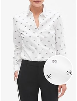 Print Tailored Non Iron Long Sleeve Shirt by Banana Republic Factory