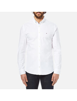 Tommy Hilfiger Men's Plain Oxford Long Sleeve Shirt   White by The Hut
