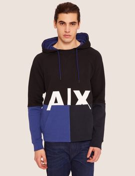 Colorblocked Logo Hoodie by Armani Exchange