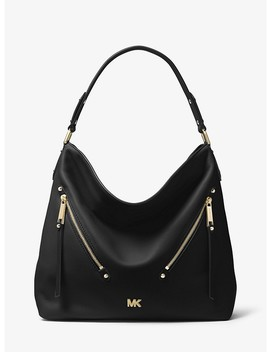 Evie Large Pebbled Leather Shoulder Bag by Michael Michael Kors